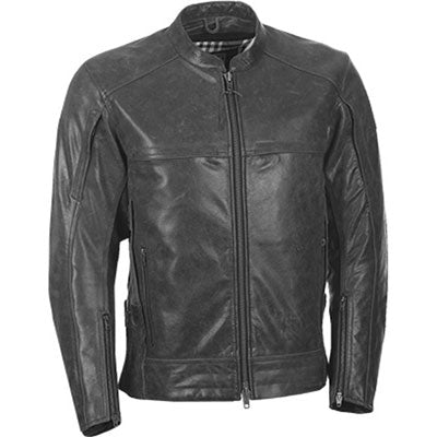 Highway 21 Gunner Leather Jacket Gunmetal