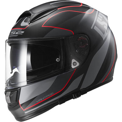 LS2 Citation Vantage Helmet Matte Black/Red
