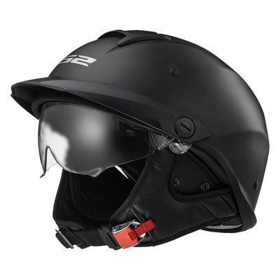 LS2 Rebellion Motorcycle Helmet Matte Black