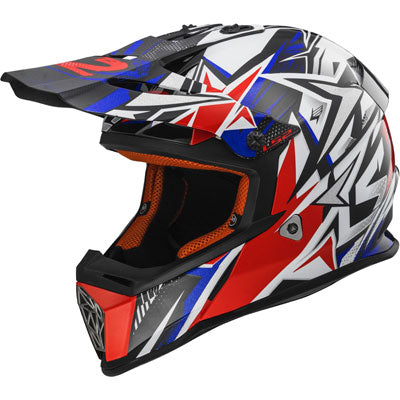 LS2 Youth Fast Mini Helmet Strong Blue/Red
