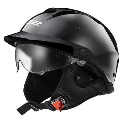 LS2 Rebellion Motorcycle Helmet Black Chrome