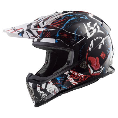 LS2 Youth Fast V2 Mini MX437J Helmet Beast Black