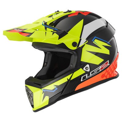 LS2 Youth Fast V2 Mini MX437J Helmet Explosive Yellow