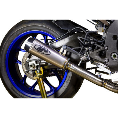 M4 Exhaust GP2 Slip-On w/CAT Eliminator Mid-Pipe Titanium – Fits: Yamaha YZF-R1