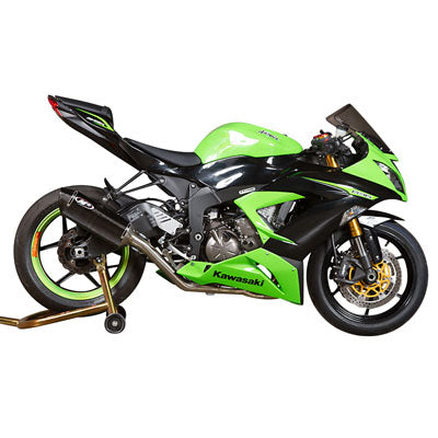 M4 Exhaust MC36 Full System Stainless/Stainless/Carbon – Fits: Kawasaki Ninja ZX-6R / ZX-6R  (ABS) / ZX-6R  KRT