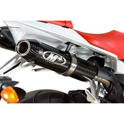 M4 Exhaust Standard Slip-On w/CAT Eliminator Mid-Pipe Dual Carbon Fiber – Fits: Yamaha YZF-R1