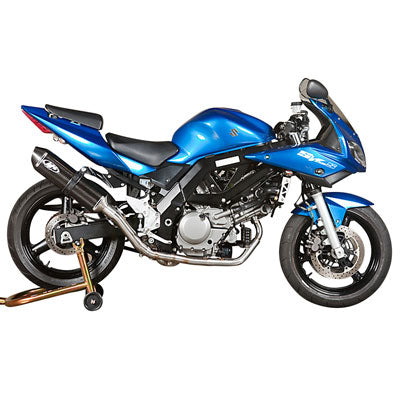 M4 Exhaust Race Full System Stainless/Stainless/Carbon – Fits: Suzuki SV650 /  SV650A (ABS)