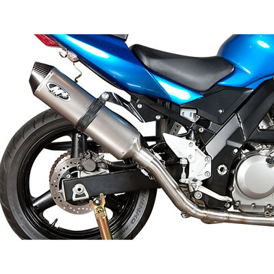 M4 Exhaust Race Full System Stainless/Stainless/Titanium – Fits: Suzuki SV650 /  SV650A (ABS)