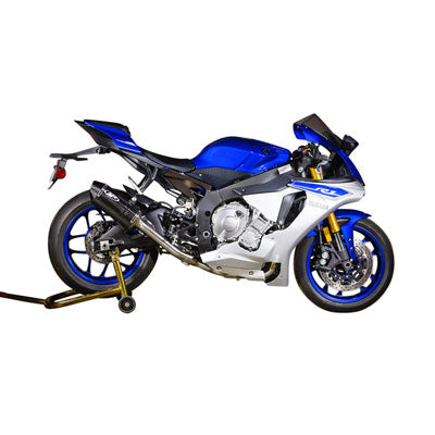 M4 Exhaust MC36 Full System Stainless/Stainless/Carbon – Fits: Yamaha YZF-R1 / YZF-R1M /  YZF-R1S