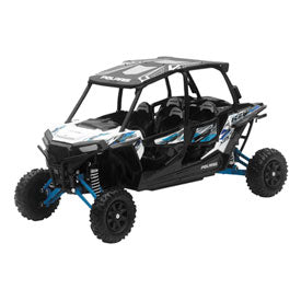 New Ray Die-Cast Polaris RZR XP 4 Turbo Replica 1:18 Scale Matte White Lightning
