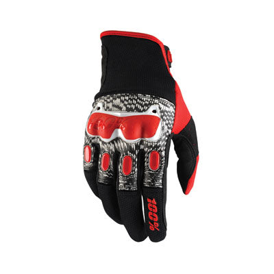 100% Derestricted Dual Sport Gloves Black/White/Red