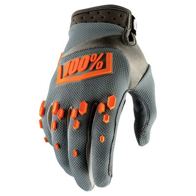 100% Airmatic Motocross Gloves Grey