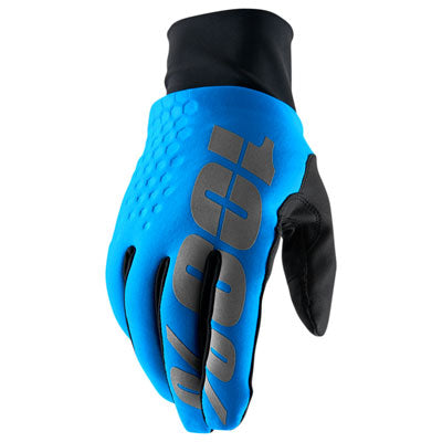 100% Hydromatic Brisker Motocross Gloves Blue