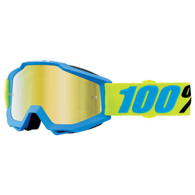 100% Accuri Goggle Belize Frame/Gold Mirror Lens