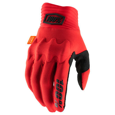 100% Cognito Motocross Gloves Red/Black