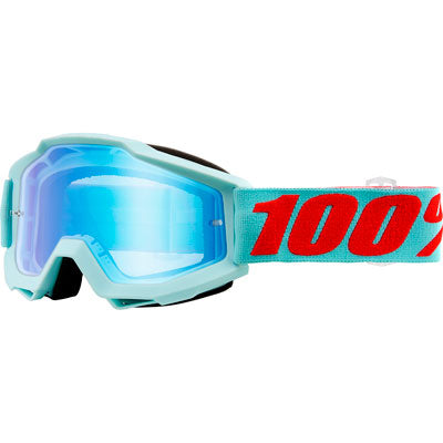 100% Accuri Goggle Maldives Frame/Blue Flash Mirror Lens