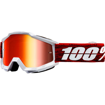 100% Accuri Goggle Graham Frame/Red Mirror Lens