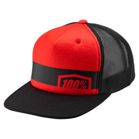 100% Youth Quest Snapback Hat Red