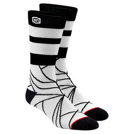 100% Fracture Athletic Socks Stone