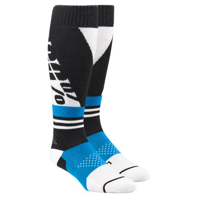100% Torque Moto Socks Steel Grey