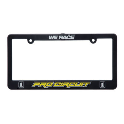 Pro Circuit License Plate Frame Black