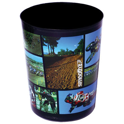 Smooth Industries Bathroom Trashcan Rubbish Bin Black