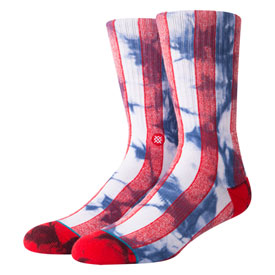 Stance Classic Crew Socks Star Red