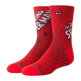 Stance Youth Classic Light Socks Amazing Spiderman Red