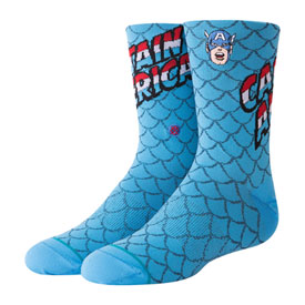 Stance Youth Classic Light Socks Captain America Blue