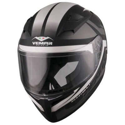 Vemar Ghibli Base Motorcycle Helmet Matte White/Black