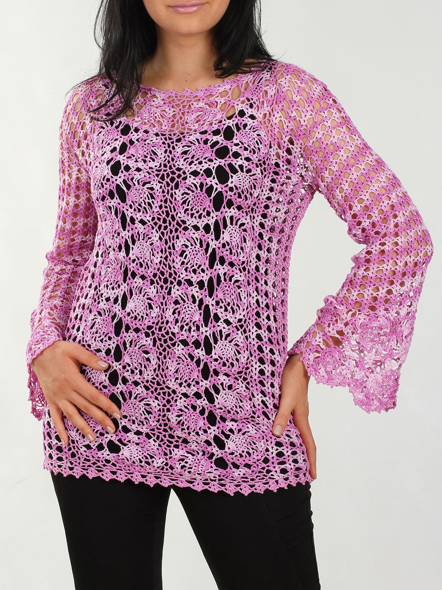 Cotton Bruges Lace Blouse Tunic