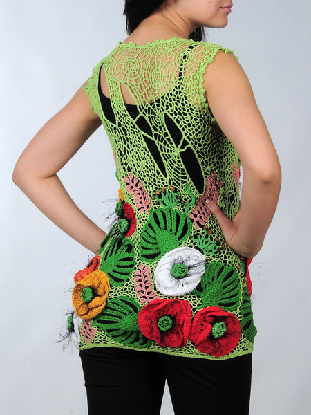 Buy Summer Tunic with 3D Poppies