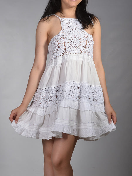 Buy Cotton White Tank Dress