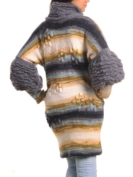 Buy Mohair Sweater Dress with Puff Sleeve