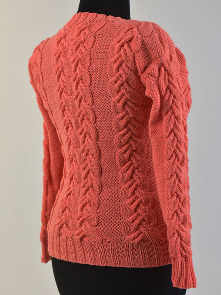 Cotton Sweater with Cables Shop