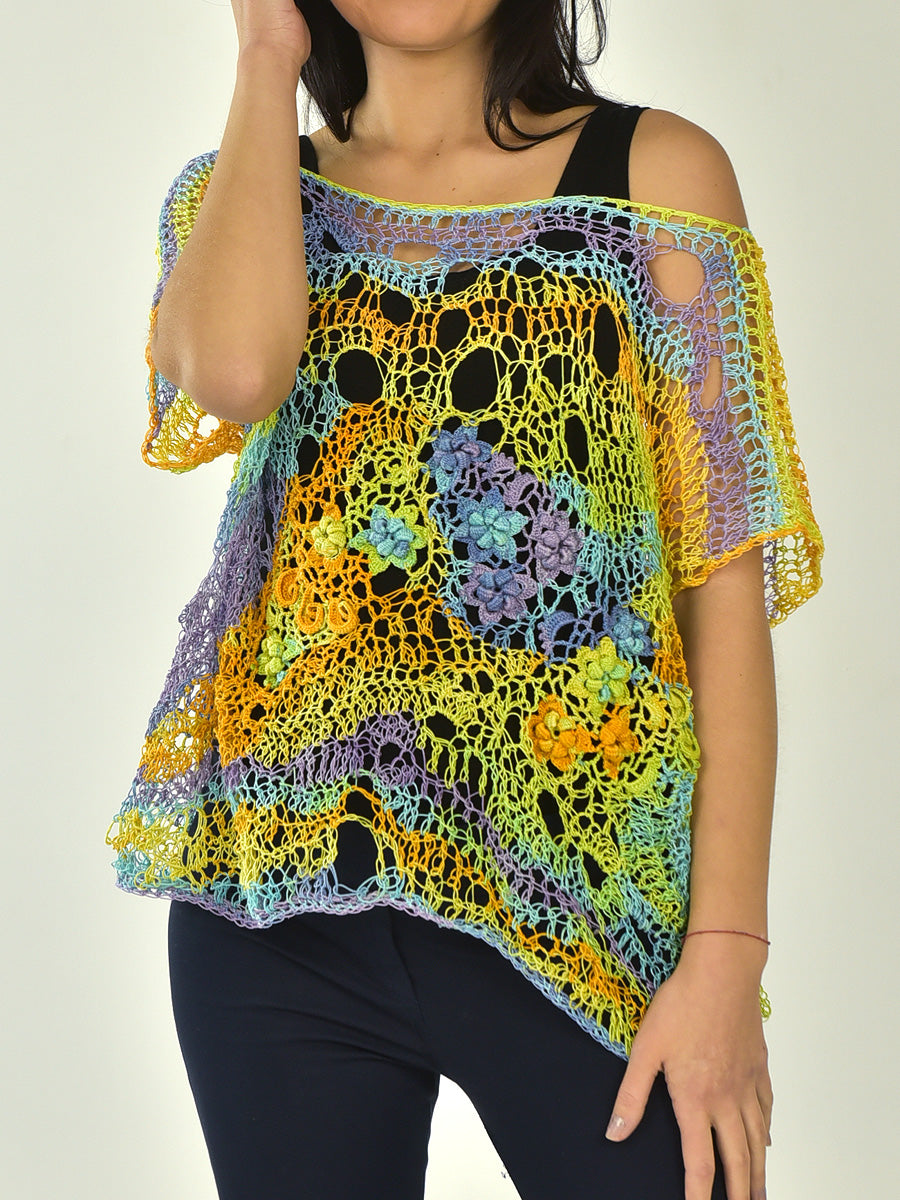 Colorful Cotton Oversized  Blouse