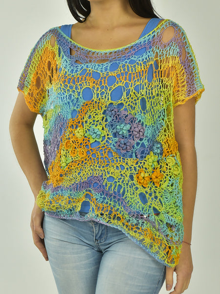 Colorful Oversized  Blouse