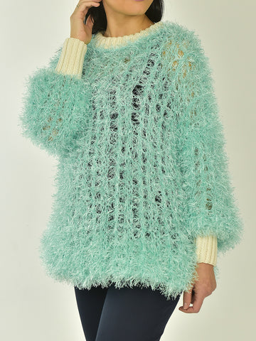 Oversized  Turquoise Pullover