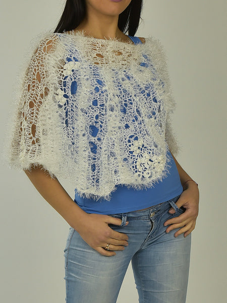 Shop Cotton White Poncho