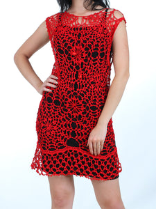 Summer Red Lace Dress