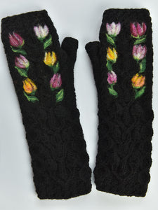 Knitted Cable Fingerless Gloves