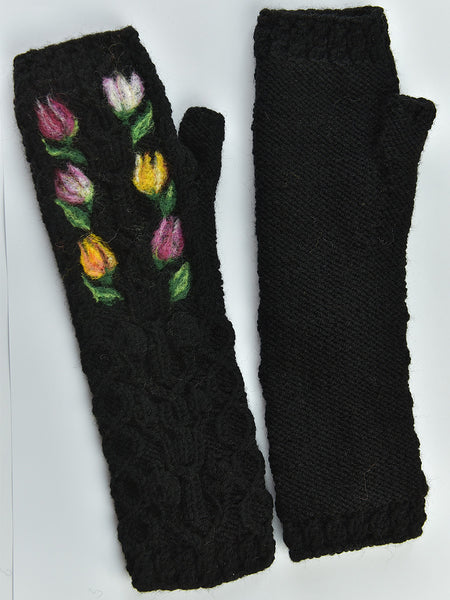 Wool Cable Fingerless Gloves Buy