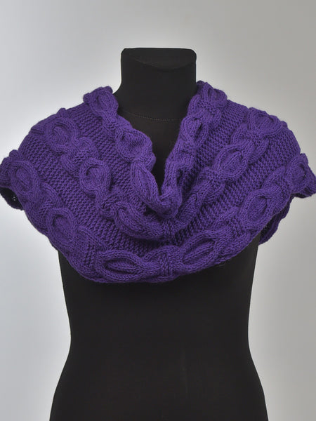 warm violet snood