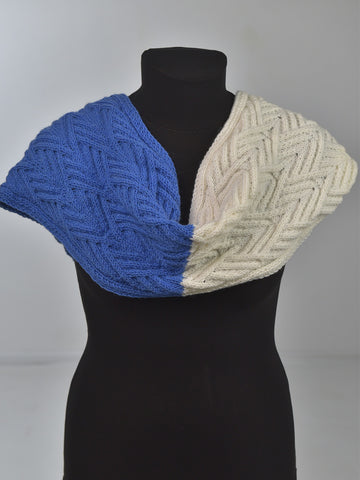warm white blue snood