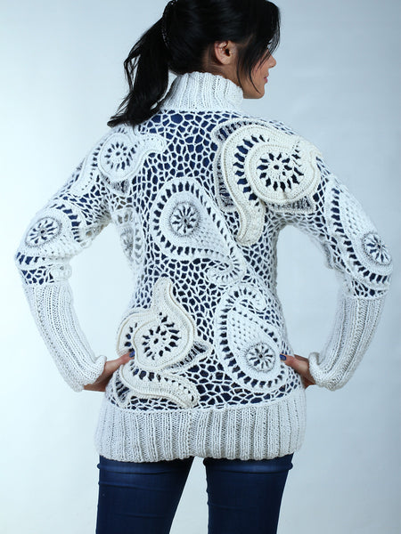 sweater tunic was crocheted