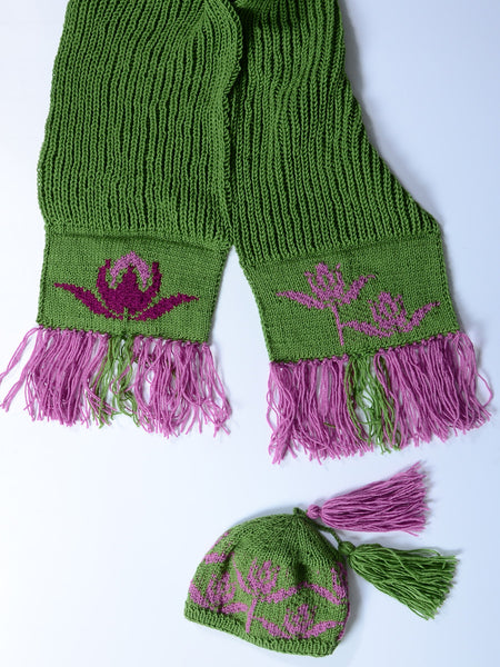 Set knitted Hat and Scarf