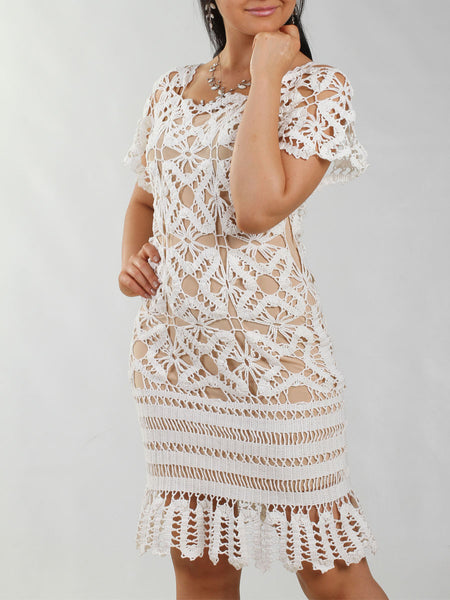 Knitwear White Dress Buy