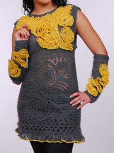 Mohair Tunic with Ruffles