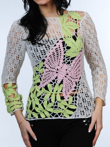 Cotton Blouse with Butterfly