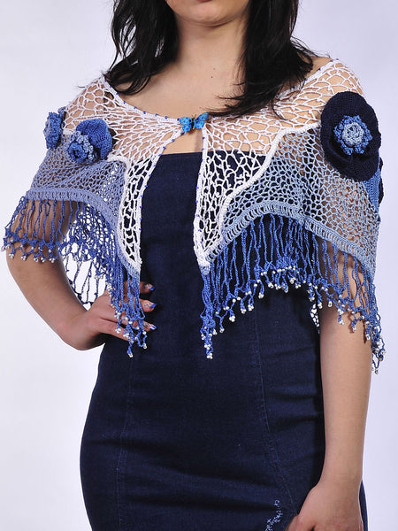 Buy Cotton Lacy Shawl